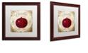 "Trademark Global Color Bakery 'Mangia Iv' Matted Framed Art, 16"" x 16"""