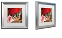 """Trademark Global Color Bakery 'China Red Ii' Matted Framed Art, 16"""" x 16"""""""