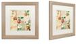 "Trademark Global Color Bakery 'Apple Blossoms Iv' Matted Framed Art, 16"" x 16"""