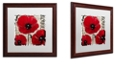 """Trademark Global Color Bakery 'Rouge Two' Matted Framed Art, 16"""" x 16"""""""