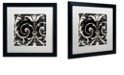 "Trademark Global Color Bakery 'Stylesque Ii' Matted Framed Art, 16"" x 16"""