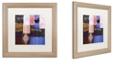 """Trademark Global Color Bakery 'Afrikan Batik Iv' Matted Framed Art, 16"""" x 16"""""""