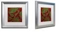 "Trademark Global Color Bakery 'Woodlands Christmas Iii' Matted Framed Art, 16"" x 16"""