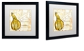"""Trademark Global Color Bakery 'Cafe D?Or Viii' Matted Framed Art, 16"""" x 16"""""""