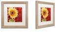 "Trademark Global Color Bakery 'Ete Iv' Matted Framed Art, 16"" x 16"""