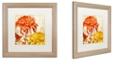 "Trademark Global Color Bakery 'Chrysanthemums I' Matted Framed Art, 16"" x 16"""