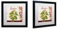 "Trademark Global Color Bakery 'Cucina Italiana Vi' Matted Framed Art, 16"" x 16"""