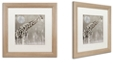 "Trademark Global Color Bakery 'Moon Giraffe' Matted Framed Art, 16"" x 16"""