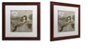 """Trademark Global Color Bakery 'Moon Bird' Matted Framed Art, 16"""" x 16"""""""