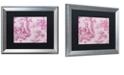 "Trademark Global Color Bakery 'Toile Fabrics Iv' Matted Framed Art, 16"" x 20"""