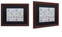 "Trademark Global Color Bakery 'Toile Fabrics Ix' Matted Framed Art, 16"" x 20"""