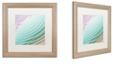 "Trademark Global Color Bakery 'Satin Iv' Matted Framed Art, 16"" x 16"""