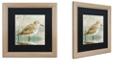 "Trademark Global Color Bakery 'Sand Piper I' Matted Framed Art, 16"" x 16"""