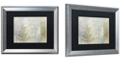 "Trademark Global Color Bakery 'Tree Language I' Matted Framed Art, 16"" x 20"""