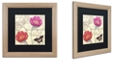 "Trademark Global Color Bakery 'Petals Of Paris I' Matted Framed Art, 16"" x 16"""