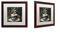 """Trademark Global Color Bakery 'Afrikan Coffees I' Matted Framed Art, 16"""" x 16"""""""