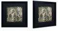 "Trademark Global Color Bakery 'Elephant 1' Matted Framed Art, 16"" x 16"""