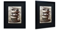 "Trademark Global Color Bakery 'Afternoon Tea I' Matted Framed Art, 16"" x 20"""