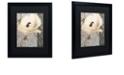 "Trademark Global Color Bakery 'Poppy Brocade Ii' Matted Framed Art, 16"" x 20"""