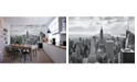 Brewster Home Fashions Nyc Black And White Wall Mural