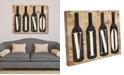 "Creative Gallery Vintage Vino Bottles On Newsprint Pattern 24"" X 36"" Canvas Wall Art Print"