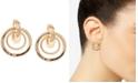 Anne Klein Gold-Tone Orbital E-Z Comfort Clip-On Drop Earrings