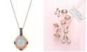 "Le Vian Opal (2-1/5 ct. t.w.) & Diamond (3/8 ct. t.w.) 22"" Pendant Necklace in 14k Rose Gold"