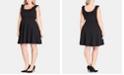 City Chic Trendy Plus Size Power-Ruffle Dress