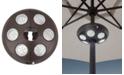 "Treasure Garden Outdoor Umbrella Large 9"" LED Light"