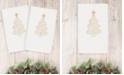 Linum Home Christmas Tree Scroll 100% Turkish Cotton Hand Towel Collection