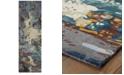 "Oriental Weavers Galaxy 21903 Blue/Gray 2'6"" x 8' Runner Area Rug"