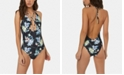 O'Neill Juniors' Dahlia Printed Plunging One-Piece Cheeky Swimsuit