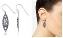 Macy's Amethyst (1-1/5 ct. t.w.) & Peridot (1/3 ct. t.w.) Marcasite Earrings in Sterling Silver