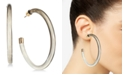 Thalia Sodi Gold-Tone Black Ombre Clear Hoop Earrings, Created for Macy's