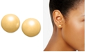 Charter Club Silver-Tone Imitation Pearl (8mm) Stud Earrings, Created for Macy's