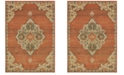 "Oriental Weavers Toscana 9568B Orange/Gray 7'10"" x 10'10"" Area Rug"