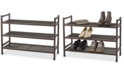 Neatfreak Heavy-Duty Stackable 3-Tier Metal Shoe Rack with Mesh Shelves