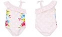 Little Me Floral Dot Baby Girls Swimsuit