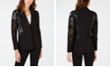 INC International Concepts I.N.C. Mixed-Materials Lace One-Button Blazer, Created for Macy's