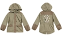 Epic Threads Little Girls Hooded Mixed Media Cotton Jacket, Created for Macy's