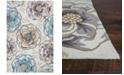 "Kas CLOSEOUT! Sonesta Floral Vines 2041 Ivory/Beige 3'3"" x 5'3"" Area Rug"