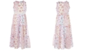 Pink & Violet Big Girls Floral-Print Patchwork Maxi Dress