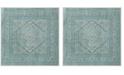 Safavieh Adirondack Light Gray and Teal 6' x 6' Square Area Rug