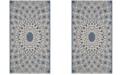 "Safavieh Courtyard Blue and Beige 2' x 3'7"" Sisal Weave Area Rug"