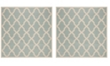 "Safavieh Linden Aqua and Cream 6'7"" x 6'7"" Square Area Rug"
