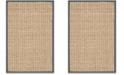 Safavieh Natural Fiber Natural and Dark Gray 2' x 3' Sisal Weave Area Rug