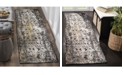 "Safavieh Classic Vintage Black and Silver 2'3"" x 8' Runner Area Rug"