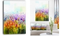 """Design Art Designart Cosmos Of Colorful Flowers Large Flower Canvas Wall Art - 30"""" X 40"""""""