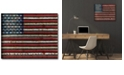 """Courtside Market American flag Gallery-Wrapped Canvas Wall Art - 16"""" x 20"""""""