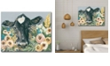 """Courtside Market Cow in The Flower Garden Gallery-Wrapped Canvas Wall Art - 18"""" x 24"""""""